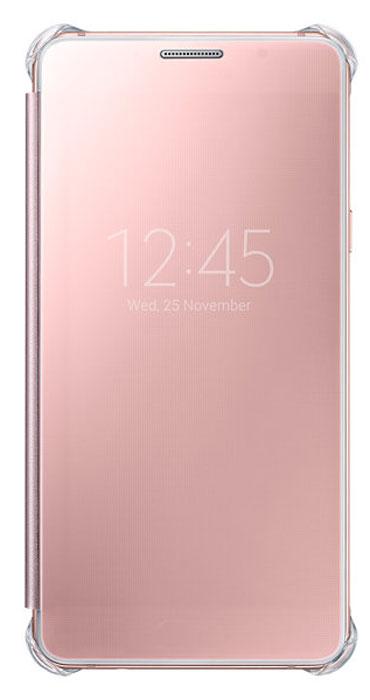 Samsung EF-ZA510 Clear View чехол для Galaxy A5 (2016), PinkEF-ZA510CZEGRUClear View Cover, созданный специально для модели смартфона Samsung Galaxy A5 2016, позволяет идти в ногу со временем и является одной из разновидностей умных чехлов. Чехол надежно защищает смартфон со всех сторон, включая экран, от царапин, пыли и повреждений. При этом защиту экрана обеспечивает прозрачная крышка из оргстекла, покрытого лаком. Она настолько функциональна, что сквозь нее виден весь дисплей целиком. Так вы всегда будете в курсе происходящего: новостей, времени, погоды, входящих сообщений и уведомлений. Чехол на страже вашего времени - при звонке не нужно открывать чехол - прозрачная лаковая поверхность чехла реагирует на прикосновения и позволяет вам ответить на важные звонки, не открывая крышки смартфона.