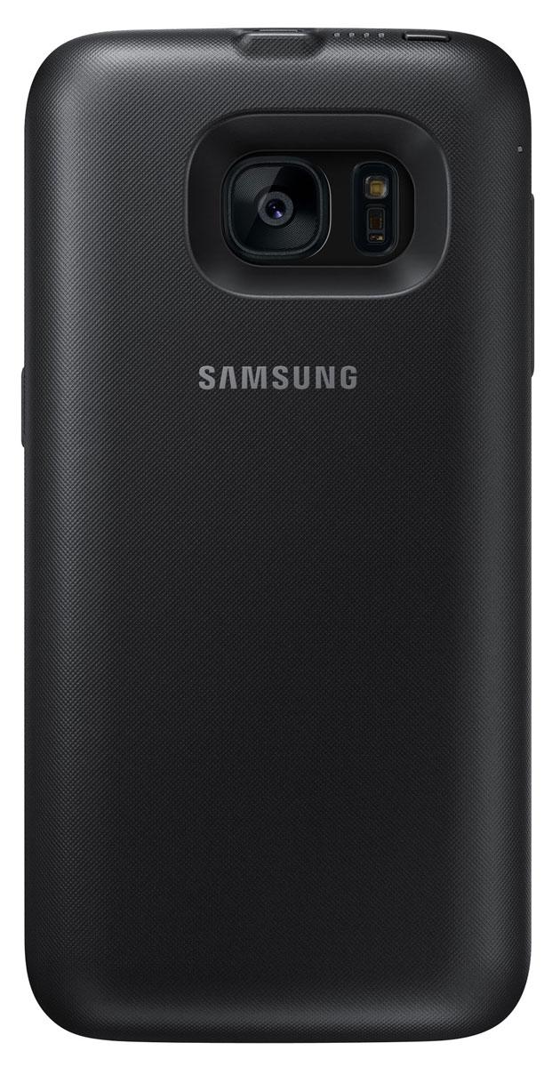 Samsung EP-TG930 Backpack чехол-аккумулятор для Galaxy S7, BlackEP-TG930BBRGRUSamsung EP-TG930 Backpack - это беспроводной чехол-аккумулятор, который продлит жизнь вашему смартфону. В дороге или путешествии — ваш девайс всегда работоспособен. Делайте фото, слушайте музыку и оставайтесь на связи с близкими людьми! Для начала зарядки не нужно подключать провода — просто наденьте чехол на ваш смартфон Galaxy S7. Индикатор питания на корпусе аккумулятора показывает уровень заряда.