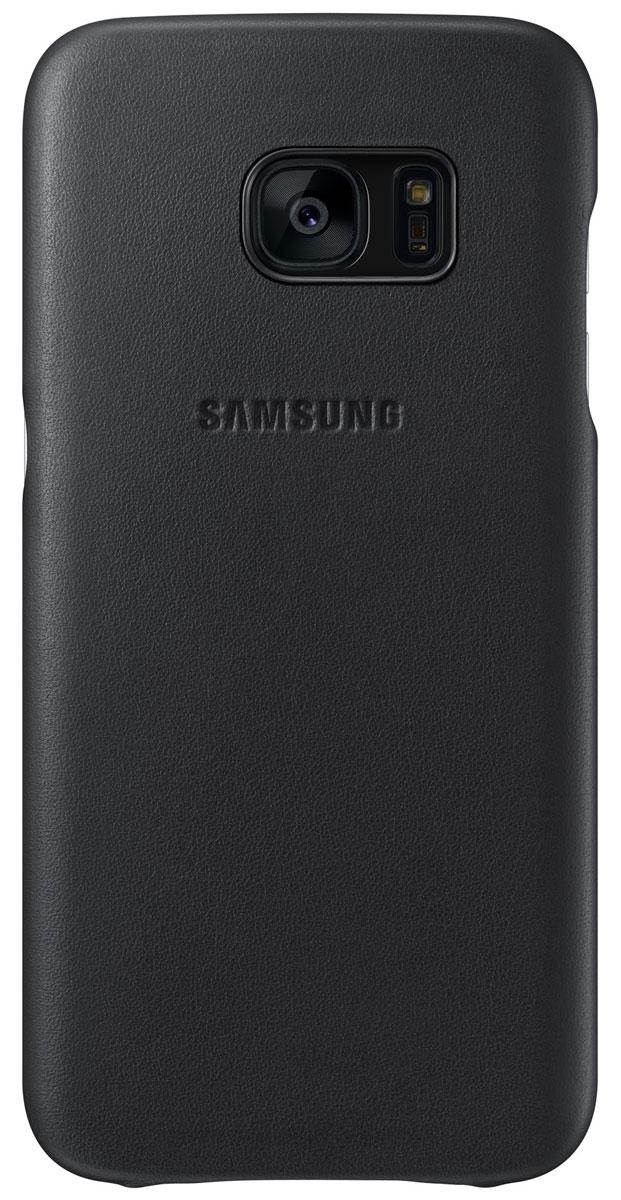 Samsung EF-VG930 Leather Cover чехол для Galaxy S7, BlackEF-VG930LBEGRUЧехол Samsung EF-VG930 Leather Cover разработан для смартфона Samsung Galaxy S7. Натуральная кожа приятна на ощупь и придает вашему смартфону элегантный внешний вид. Чехол плотно прилегает к корпусу устройства и предохраняет его от пыли и царапин.