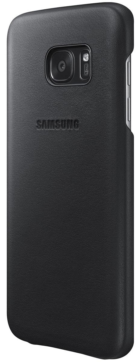 Samsung EF-VG930 Leather Cover чехол для Galaxy S7, Black