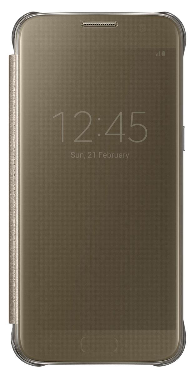 Samsung EF-ZG930 Clear View Cover чехол для Galaxy S7, GoldEF-ZG930CFEGRUТонкий полупрозрачный чехол Samsung EF-ZG930 Clear View Cover подчеркивает стиль и изящество Galaxy S7. Плавные линии чехла настолько гармонично дополняют дизайн телефона, что практически полностью сохраняют первоначальный вид устройства, эффективно защищая его от повреждений. Получите доступ ко всем основным функциям телефона, включая приём входящих вызовов и управление воспроизведением музыки, без необходимости открывать крышку чехла. Благодаря специальному покрытию, устойчивому к появлению отпечатков пальцев, вы можете наслаждаться чистым внешним видом устройства как будто вы только что достали его из коробки.