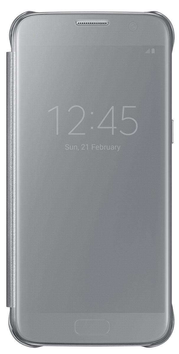 Samsung EF-ZG930 Clear View Cover чехол для Galaxy S7, SilverEF-ZG930CSEGRUТонкий полупрозрачный чехол Samsung EF-ZG930 Clear View Cover подчеркивает стиль и изящество Galaxy S7. Плавные линии чехла настолько гармонично дополняют дизайн телефона, что практически полностью сохраняют первоначальный вид устройства, эффективно защищая его от повреждений. Получите доступ ко всем основным функциям телефона, включая приём входящих вызовов и управление воспроизведением музыки, без необходимости открывать крышку чехла. Благодаря специальному покрытию, устойчивому к появлению отпечатков пальцев, вы можете наслаждаться чистым внешним видом устройства как будто вы только что достали его из коробки.