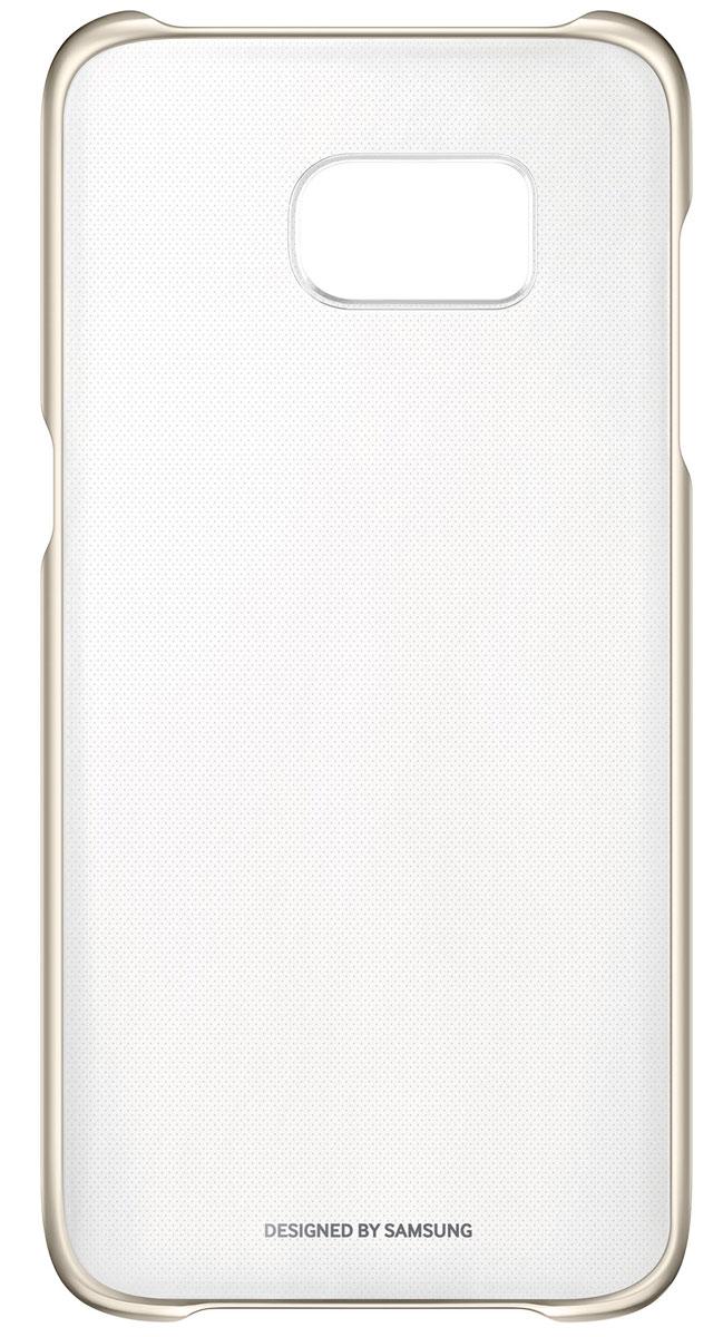 Samsung EF-QG935 Clear Cover чехол для Galaxy S7 Edge, GoldEF-QG935CFEGRUSamsung EF-QG935 Clear Cover - прозрачная накладка на заднюю крышку смартфона Samsung Galaxy S7. Тонкий чехол практически не увеличивает размеров смартфона, сохраняя его оригинальный внешний вид и защищая от пыли, грязи и повреждений. Уважаемые клиенты! Обращаем ваше внимание, что данный чехол имеет специальное защитное покрытие под транспортировочной плёнкой в виде тонкой дополнительной плёнки, являющееся неотъемлемой частью крышки и которое нанесено с помощью специального клея. Отделение данного слоя не предусмотрено производителем, и может привести к повреждению аксессуара.