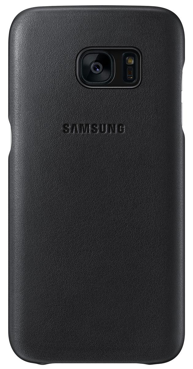 Samsung EF-VG935 Leather Cover чехол для Galaxy S7 Edge, BlackEF-VG935LBEGRUЧехол Samsung EF-VG935 Leather Cover разработан для смартфона Samsung Galaxy S7 Edge. Натуральная кожа приятна на ощупь и придает вашему смартфону элегантный внешний вид. Чехол плотно прилегает к корпусу устройства и предохраняет его от пыли и царапин.