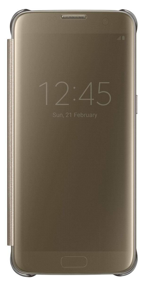 Samsung EF-ZG935 Clear View Cover чехол для Galaxy S7 Edge, GoldEF-ZG935CFEGRUТонкий полупрозрачный чехол Samsung EF-ZG935 Clear View Cover подчеркивает стиль и изящество Galaxy S7 Edge. Плавные линии чехла настолько гармонично дополняют дизайн телефона, что практически полностью сохраняют первоначальный вид устройства, эффективно защищая его от повреждений. Получите доступ ко всем основным функциям телефона, включая приём входящих вызовов и управление воспроизведением музыки, без необходимости открывать крышку чехла. Благодаря специальному покрытию, устойчивому к появлению отпечатков пальцев, вы можете наслаждаться чистым внешним видом устройства как будто вы только что достали его из коробки.