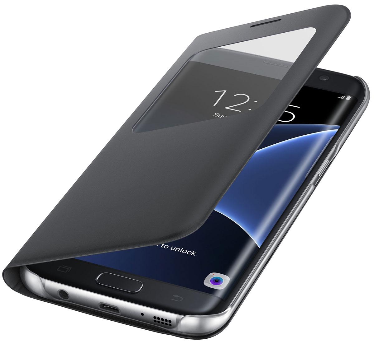 Samsung EF-CG935 S View Cover чехол для Galaxy S7 Edge, Black