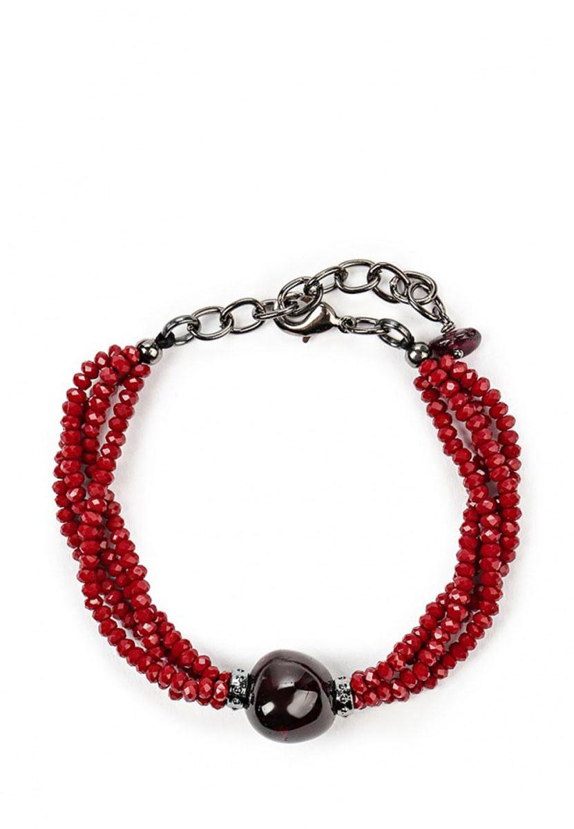 Браслет 'Polina Selezneva', цвет: бордовый. 002-2826