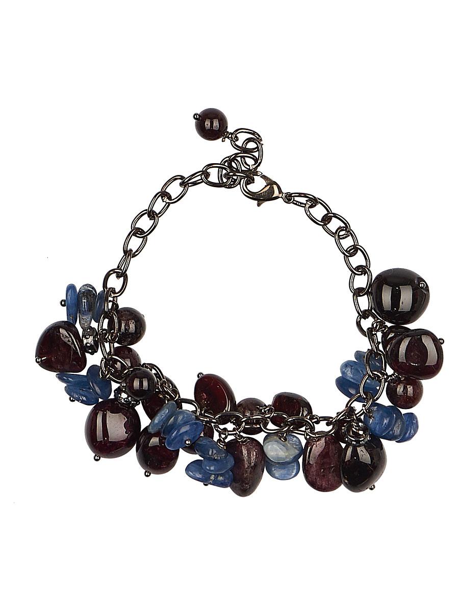 Браслет 'Polina Selezneva', цвет: бордовый, синий, черный. 002-2816