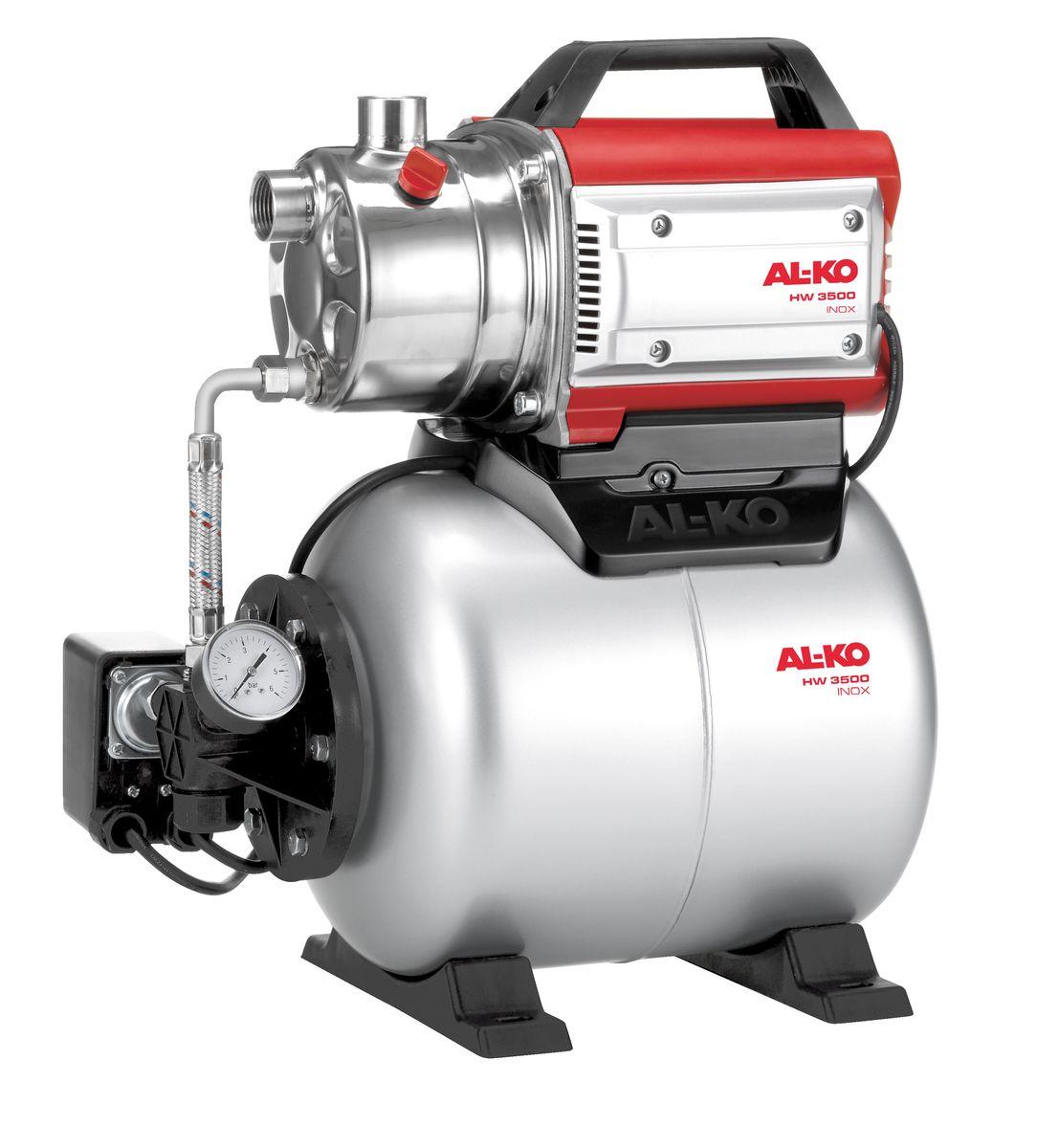 Станция насосная AL-KO HW 3500 Inox Classic112848Насосная станция AL-KO HW 3500 Inox Classic очень легко вводится в эксплуатацию. Она надежна в работе, имеет низкий уровень шума. Корпус выполнен из высококачественной нержавеющей стали. Насосная станция имеет высокую мощность всасывания и может выдерживать высокое давление. Объем расширительного бака: 17 л. Мощность: 850 Вт. Глубина забора воды: 8 м. Высота напора: 38 м. Максимальный объем подачи: 3400 л/час. Рабочий механизм насоса: 1-ступенчатый. Диаметр входного и выходного отверстий: G 1.