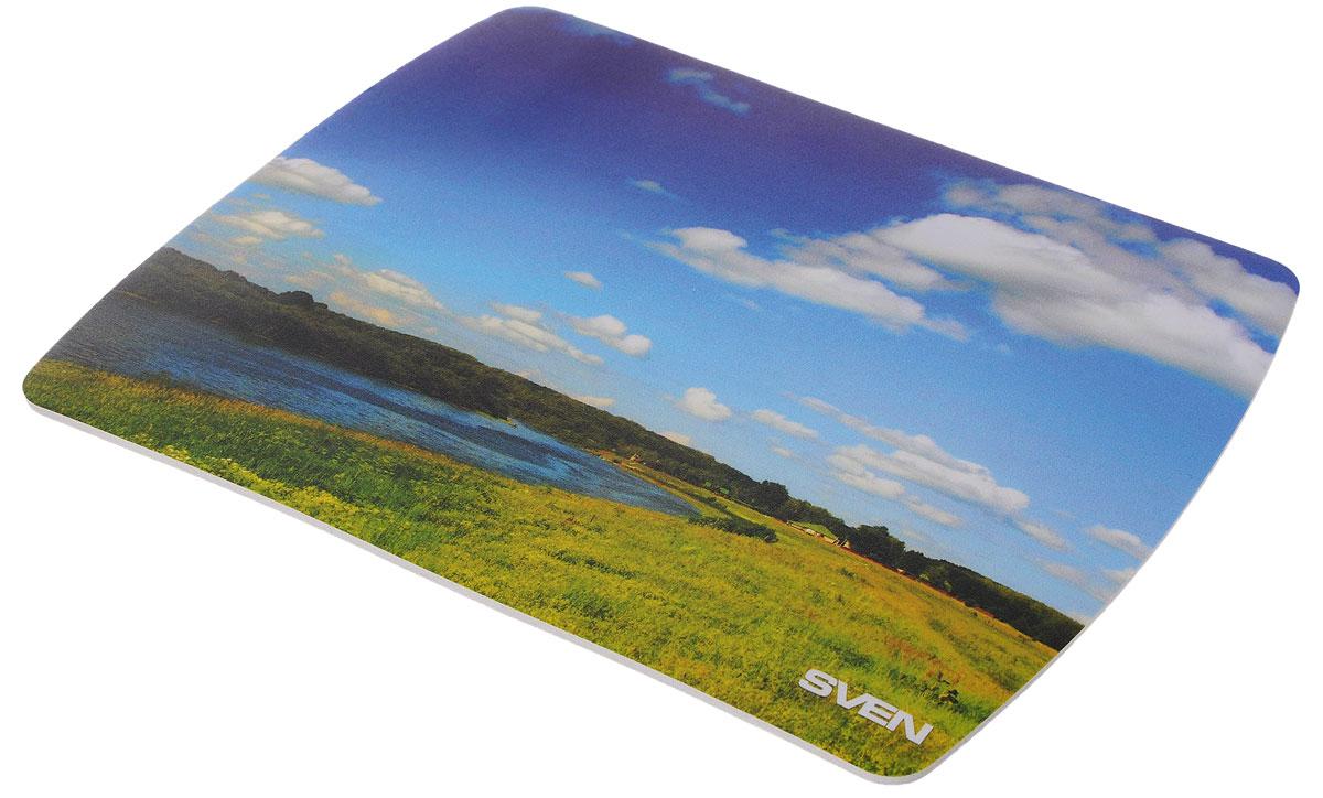 Sven UA, Blue Green коврик для мышиUA-011123_летоКоврик для мыши Sven UA изготовлен из вспененного мягкого пластика и полипропилена, а также имеет износостойкую печать с уникальными пейзажами планеты. Данный коврик обеспечивает надежное сцепление с поверхностью стола.
