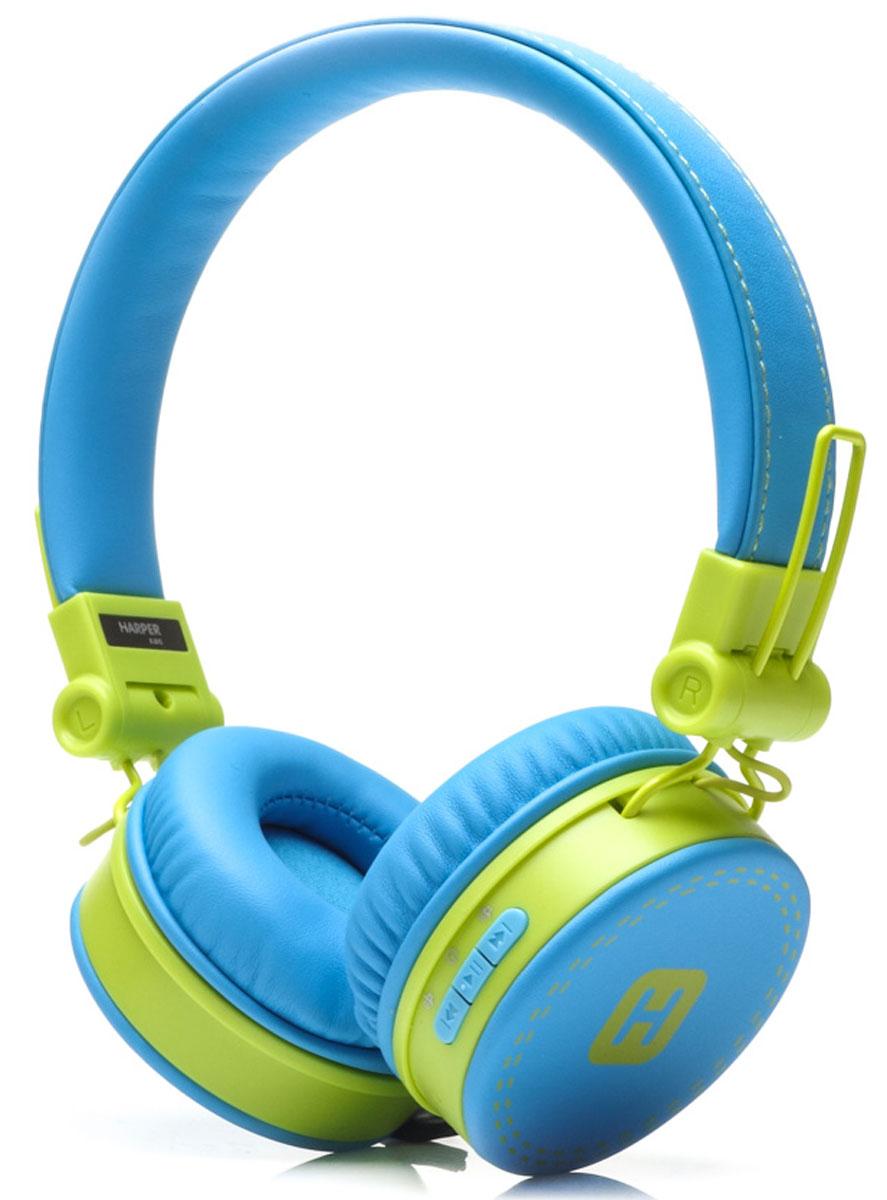 Harper Kids HB-202, Blue Yellow наушникиH00001018Яркие и стильные Bluetooth-наушники Harper Kids HB-202 с отличным качеством звучания. Гарнитура имеет встроенный пульт и микрофон для быстрого переключения между музыкой и вызовами. Подключив её к своему смартфону или планшету вы сможете не только наслаждаться любимой музыкой, но и с легкостью ответить на звонок, не доставая гаджет. Гарнитуру также можно подключить с помощью кабеля 3,5 мм входящего в комплект.