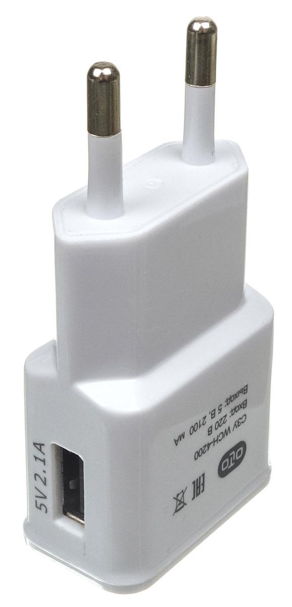 OLTO WCH-4200 сетевое зарядное устройствоO00000Сетевое зарядное устройство OLTO WCH-4200 предназначено для зарядки и питания мобильного устройства от бытовой сети переменного тока. Вы можете заряжать любые устройства, совместимые с выходным током зарядки до 2.1А и напряжением 5В.