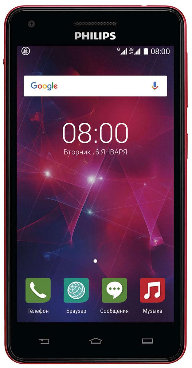 Philips Xenium V377, Black Red8712581737023Смартфон Philips Xenium V377 отличается искусным дизайном и оснащен аккумулятором 5000 мАч и усовершенствованной энергосберегающей технологией. Одна зарядка обеспечивает до 47 дней работы устройства. Откройте для себя мир новых возможностей. Кнопка режима энергосбережения может оказаться для вас одной из самых полезных функций. Нажав на кнопку на боковой панели, вы включаете функцию, которая позволяет сэкономить заряд аккумулятора. В этом режиме отключаются Wi-Fi, GPS и Bluetooth и понижается яркость экрана. Если вы активно пользуетесь телефоном, эта удобная кнопка не только поможет избежать излишних действий для выбора настроек, как это бывает на других телефонах, но и позволит значительно увеличить длительность работы телефона до следующей зарядки. Организуйте свою жизнь — разделите контакты на 2 группы, используя два телефонных номера. С двумя SIM- картами вам не придется все время носить с собой 2 телефона. Благодаря процессору...