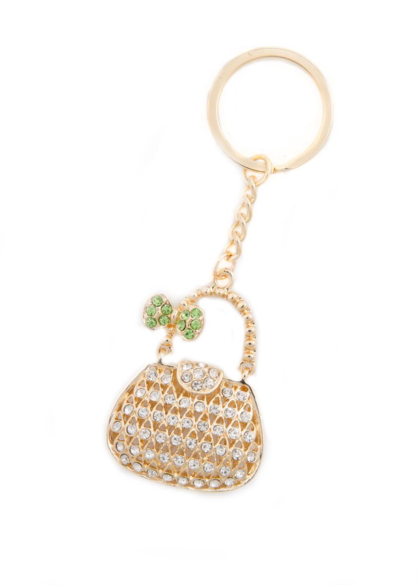 Брелок женский Mitya Veselkov, цвет: золотистый, белый, зеленый. BRELOK-KLATCH-GREBRELOK-KLATCH-GREОригинальный брелок для ключей Mitya Veselkov изготовлен из металлического сплава. Декоративный элемент выполнен в виде объемной сумочки с подвижной ручкой и оформлен стразами. Мелочей в образе не бывает, поэтому внимания требуют даже брелоки для ключей. Приятно открывать дверь любимого дома ключом с красивым брелоком.