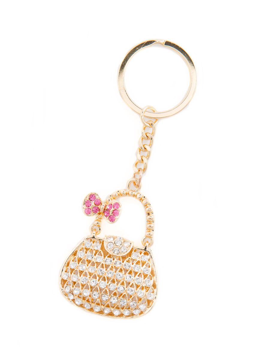 Брелок женский Mitya Veselkov, цвет: золотистый, белый, розовый. BRELOK-KLATCH-PINKBRELOK-KLATCH-PINKОригинальный брелок для ключей Mitya Veselkov изготовлен из металлического сплава. Декоративный элемент выполнен в виде объемной сумочки с подвижной ручкой и оформлен стразами. Мелочей в образе не бывает, поэтому внимания требуют даже брелоки для ключей. Приятно открывать дверь любимого дома ключом с красивым брелоком.