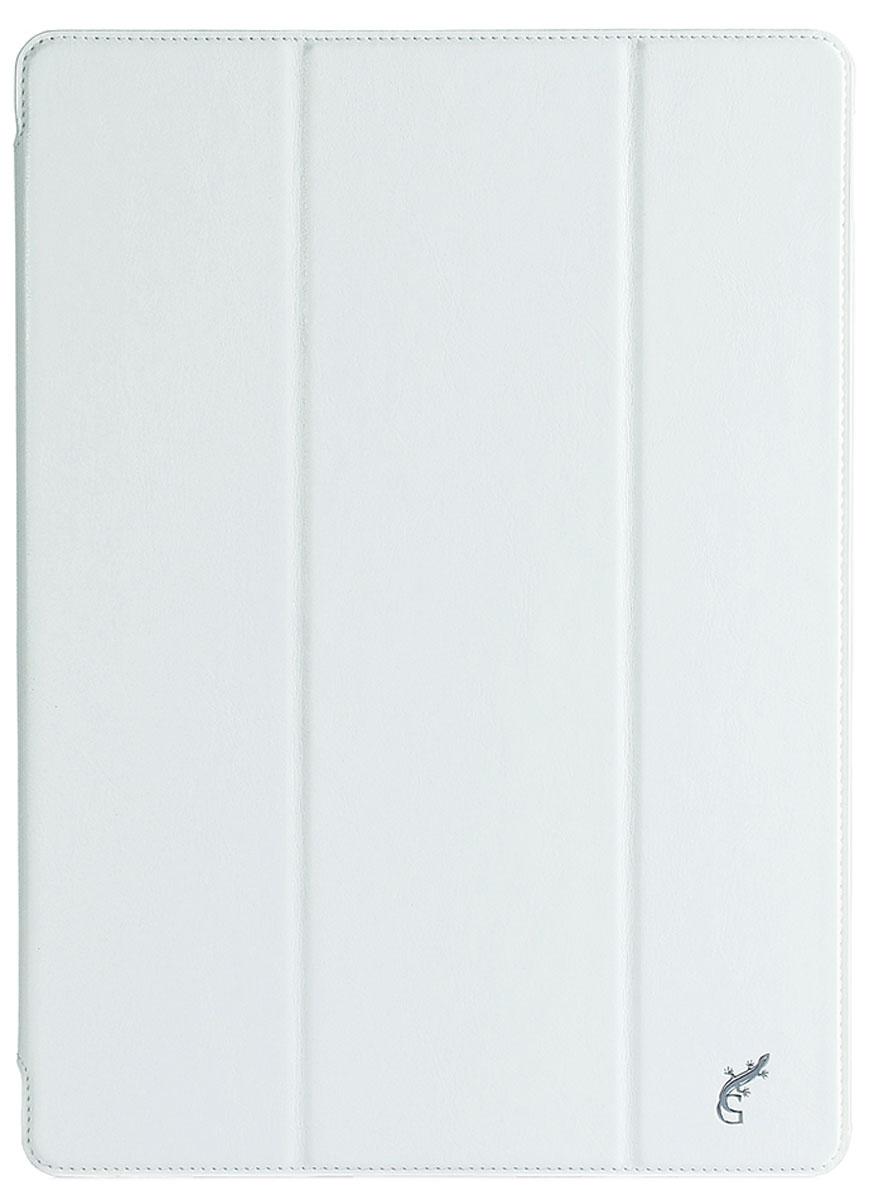G-Case Slim Premium чехол для iPad Pro, WhiteGG-665Защитный чехол G-Case Slim Premium для планшета iPad Pro отличается высокой степенью защиты от попадания влаги и пыли, а также падений и механических ударов. Среди конструктивных особенностей защитного чехла G-case можно отметить наличие двухпозиционной подставки, благодаря которой устройство можно установить в нескольких положениях для удобства пользования. Чехол имеет свободный доступ ко всем разъемам и кнопкам устройства.
