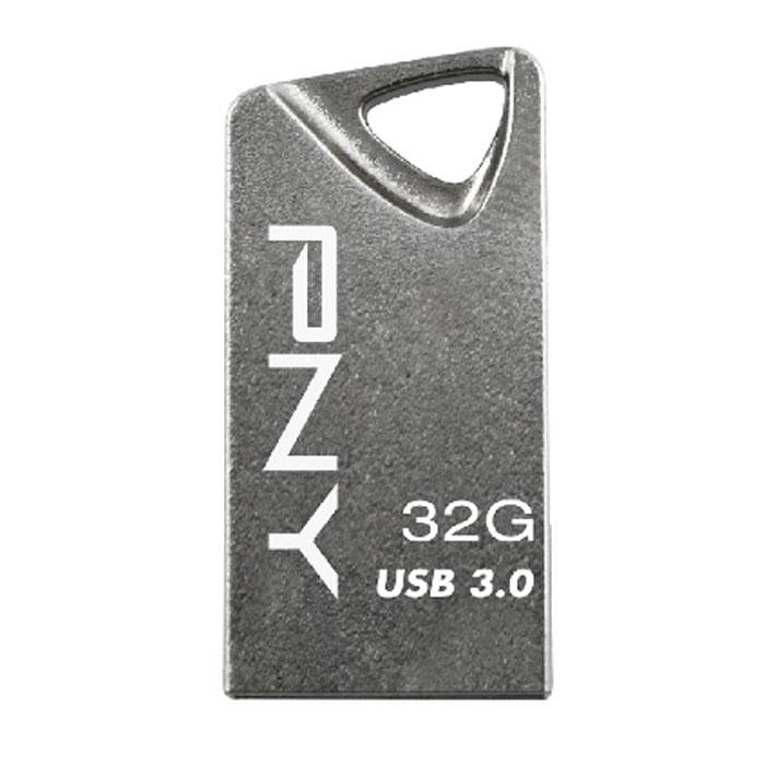 PNY T3 Attache 32Gb, Silver флеш-накопитель3536401519409Флеш-накопитель PNY T3 Attache изготовлен в блестящем стальном корпусе и отличается компактным размером. Храните, передавайте фотографии, музыку, видеоролики, файлы и делитесь ими с высокоскоростным интерфейсом USB 3.0. Конструкция в виде треугольного брелока с обтекаемой формой позволяет прикрепить устройство к кольцу для ключей, рюкзаку и т.д. Температура эксплуатации: от 0°C до 60°C Температура хранения: от -20° до 85° C Допустимый уровень влажности при хранении: не более 95%, без конденсации Хранение данных: 10 лет Количество циклов записи/стирания: от 10000