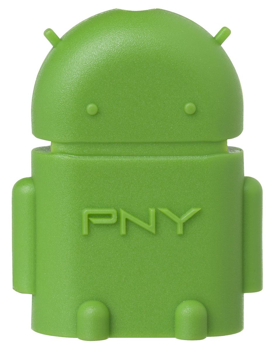 PNY OTG-A2G-EF, Green картридер OTG