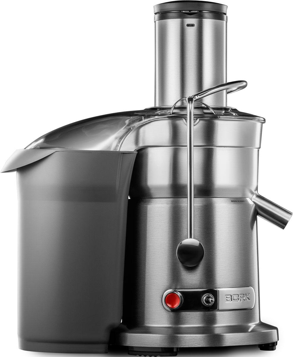 Bork S800 соковыжималкаS800Мощный и основательный (1500 Вт), производительный и выполненный в стильном металлическом дизайне, универсальный соковыжиматель Bork S800 до последней капли отделяет чистый сок от мякоти. Идеально подходит как для ежедневного приготовления сока для всей семьи, так и для сезонных заготовок в больших объемах. Модель прошла испытания на прочность в России и способна отжать сок из тонны яблок за 1 день. Профессиональный двигатель мощностью 1500 Вт позволяет удерживать заданные обороты при любых нагрузках, а две скорости отжима для мягких и твердых продуктов от 6500 до 13000 оборотов в минуту позволяют извлекать максимум из всего, что содержит сок. Сок получается чистым, а жмых сухим благодаря мелкоячеистому фильтру выполненному по технологии лазерной перфорации и обладающему непревзойденной степенью фильтрации. Нитрид-титановое покрытие делает ножи устойчивыми к износу, окислению и коррозии. Широкий диаметр загрузочного желоба позволяет...