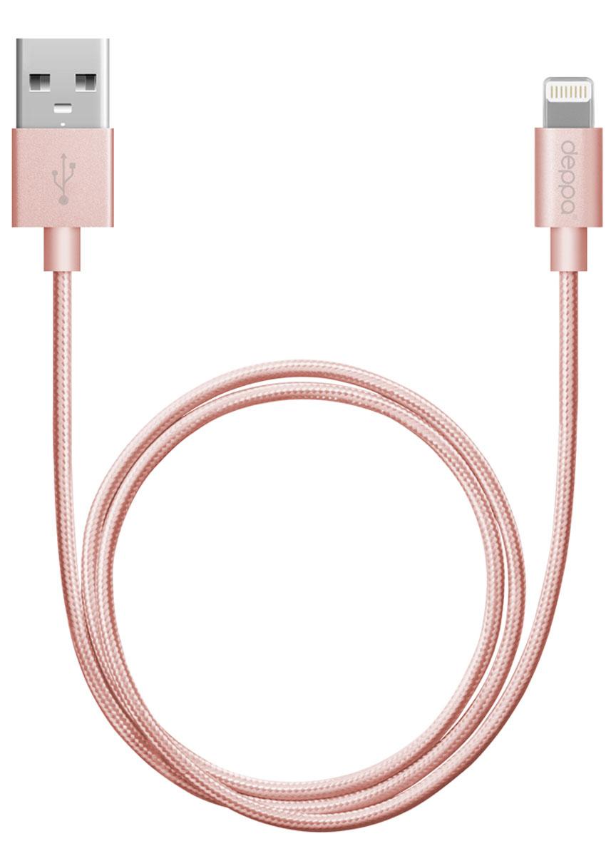 Deppa Alum MFI, Pink дата-кабель USB-8-pin (1,2 м)72209Дата - кабель Deppa Alum MFI обеспечит синхронизацию и заряд аккумулятора вашего устройства. Качество кабеля, форма, дизайн и материалы упаковки полностью соответствуют стандартам качества Apple Inc. и официально одобрены корпорацией к производству и продаже. Совместимость: Apple iPhone 5/5C/5S/5/6/6 Plus, iPad mini 3, iPad mini 2, iPad mini, iPad Air 2, iPad Air, iPod Touch 5, iPod Nano 7 Алюминиевые коннекторы Рабочее напряжение: 4,8 - 5,5В Ток нагрузки: 2,4A Скорость передачи данных: до 480 Мбит/сек