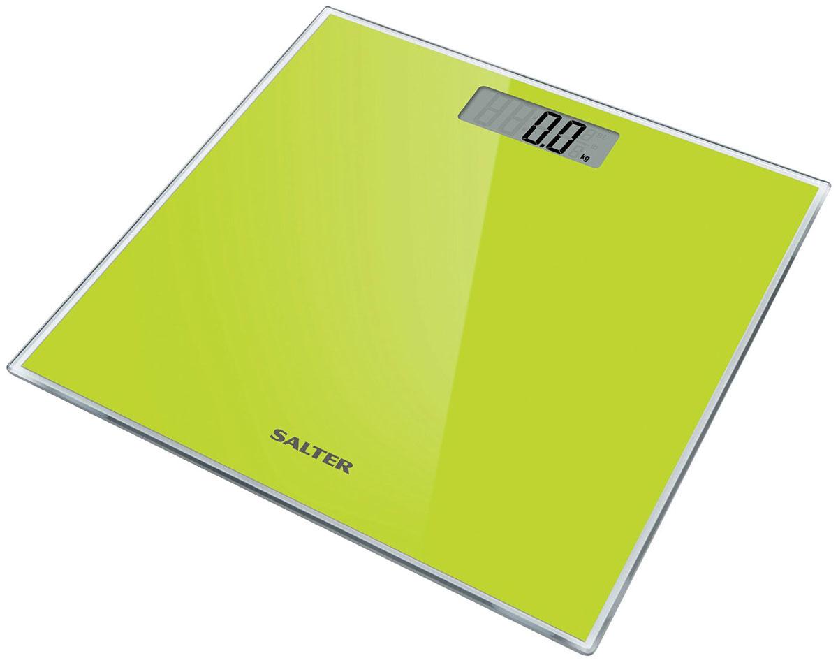 Salter 9037 GN3R, Green напольные весы9037 GN3RSalter 9037 GN3R - напольные весы со стильным дизайном. Они представляют собой сверхтонкую стеклянную платформу с красивой прозрачной рамкой. Компактная конструкция удобна для легкого хранения. Имеется функция включения весов при прикосновении. Данная модель имеет легко читаемый широкий дисплей 79 х 28 мм.
