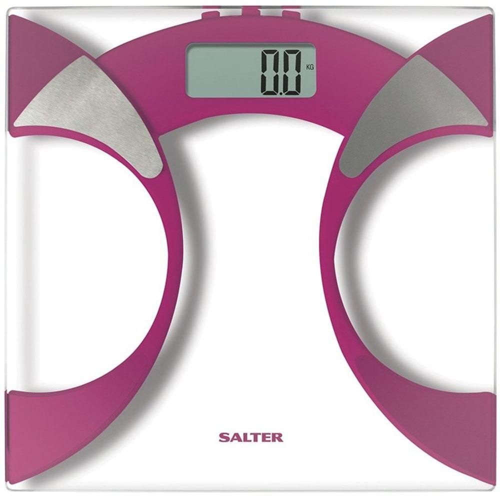 Salter 9141 PK3R, Pink напольные весы9141 PK3RНапольные весы Salter 9141 отлично подходят для повседневного контроля массы тела и других показателей. Устройство производит последовательное вычисление доли процентного содержания уровней жидкости и жира в теле. Дело в том, что масса тела имеет несколько функциональных показателей, поэтому простое количество килограммов не является индикатором для определения состояния здоровья. Одно из преимуществ этих напольных весов - произведение расчета индекса массы тела. Также реализован поиск оптимальных параметров для каждого человека. Свой рост в сантиметрах необходимо ввести в память напольных весов. После обработки данных роста и весовых показателей, происходит определение оптимальной массы организма. Информация высвечивается на большом электронном экране. Применение закаленного стекла и металла придает изделию небольшую массу и компактные габариты. Включение весов возможно путем прикосновения к ним. Необычный дизайнерский ход - применение...