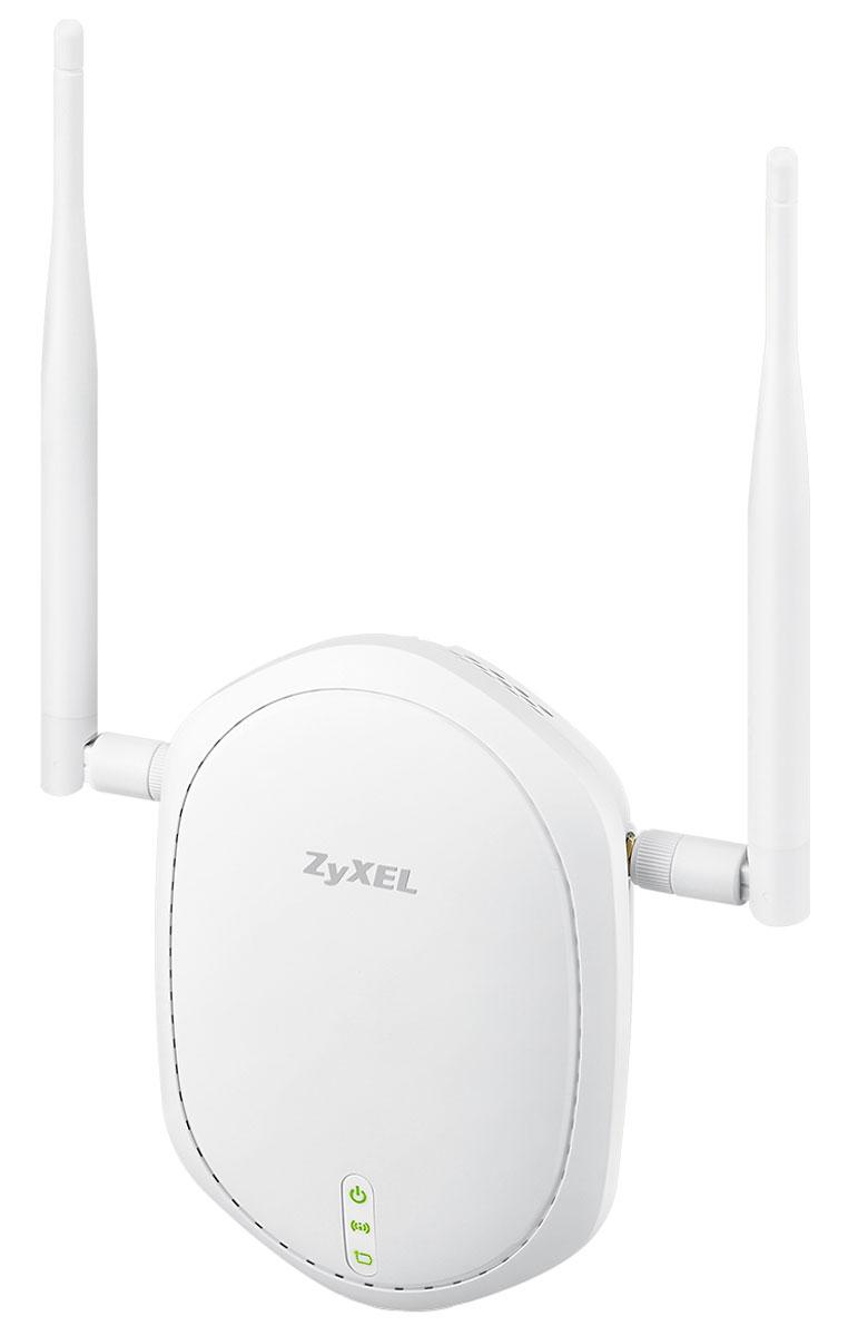 Zyxel NWA1100-NH точка доступаNWA1100-NHZyXEL NWA1100-NH - точка доступа повышенного радиуса действия с внешними съёмными антеннами, поддержкой режимов репитера и беспроводного клиента. Поддержка стандарта 802.11n и технологии MIMO 2T2R с двумя пространственными потоками данных обеспечивают максимальную скорость беспроводной связи 300 Мбит/с. Точка доступа серии NWA1100 поддерживает четыре режима работы на выбор: MBSSID: точка доступа с поддержкой 8 SSID Root AP: точка доступа, 1 SSID для функции репитера и 4 SSID для подключения беспроводных клиентов Repeater: увеличение зоны покрытия беспроводной сети Клиент точки доступа: подключение к беспроводной сети оборудования с портом Ethernet Изолирование трафика пользователей на втором уровне (Layer-2 Isolation) служит для настройки прав доступа к ресурсам локальной сети. Для каждой беспроводной сети SSID, организуемой точкой доступа ZyXEL, можно задать отдельный набор MAC-адресов устройств в корпоративной сети...