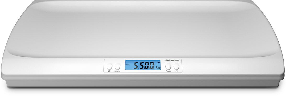 Maman SBBC216 весы детскиеSBBC216Детские весы Maman SBBC216 с подсветкой дисплея, автоматическим вычислением изменения веса между двумя последовательными взвешиваниями и проигрыванием колыбельных мелодий станут незаменимыми помощниками для любой мамы! Дисплей с подсветкой покажет вам точные данные, а возможность тарирования позволяет взвешивать младенца в пеленке, что делает процедуру комфортной для малыша. Наличие возможности проигрывания 4 вариантов колыбельных мелодий успокоит ребенка во время процедуры. Погрешность измерений: 30 г