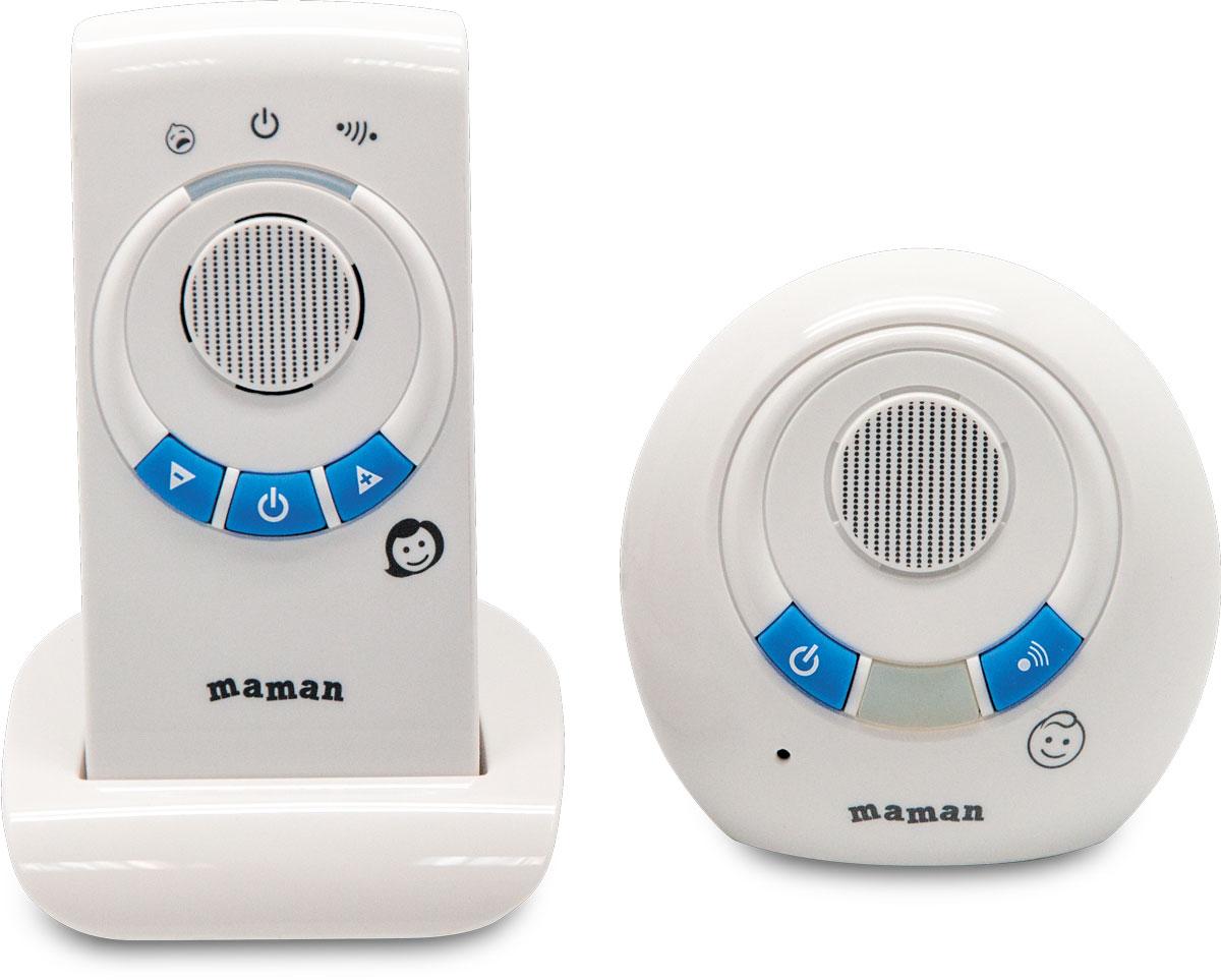 Maman Радионяня RD-2810RD-2810Дальность до 300 метров. Качественный звук без помех.Возможность работы родительского блока как в стационарном (от сети), так и в переносном режимах. Детский блок работает от сети. Функция подзарядки аккумуляторов. Комплектность: Детский блок, Родительский блок, сетевой адаптер, подставка с сетевым адаптером, аккумуляторы.