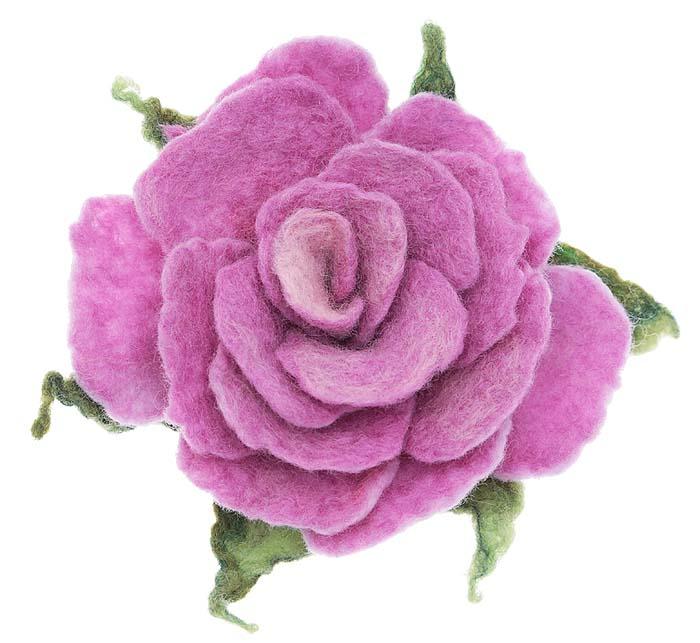 Брошь Сиреневая роза, ручная авторская работа. Валяная шерсть. РоссияОС27602Брошь Сиреневая роза. Автор - Ирина Борисова. Валяная шерсть, ручная работа. Россия. Размер: диаметр 7 см. Тип крепления - булавка с застежкой. Каждое украшение выполнено вручную и уникально. Ваше украшение может несколько отличаться в деталях от представленного на фотографии. Общий вид украшения сохраняется.