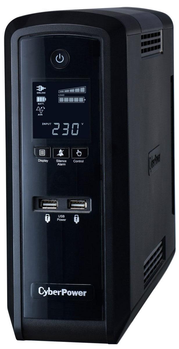 CyberPower CP1500EPFCLCD 1500VA/900W линейно-интерактивный ИБПCP1500EPFCLCDИсточник бесперебойного питания CyberPower CP1500EPFCLCD предназначен для защиты компьютерного оборудования и вспомогательной техники от основных неполадок с электропитанием: скачков и исчезновения напряжения в сети, радиочастотных помех и высоковольтных выбросов. Модель снабжена специальным программным обеспечением, информативным дисплеем и системой звуковой сигнализации, оповещающей об изменениях, связанных с работой прибора, что позволяет контролировать состояние устройства. Многофункциональный ЖК-дисплей обеспечивает быстрый доступ к точной информации о питании и батарее. Программное обеспечение PowerPanel демонстрирует широкие возможности ИБП, такие как вход / выход напряжения, самодиагностика, и приблизительное время резерва аккумулятора. С энергосберегающий технологией, адаптивная серия PFC Sinewave экономит до 75% электроэнергии, следовательно, и расходы на оплату электричества. Кроме того, ИБП данной серии допускают возможность ...