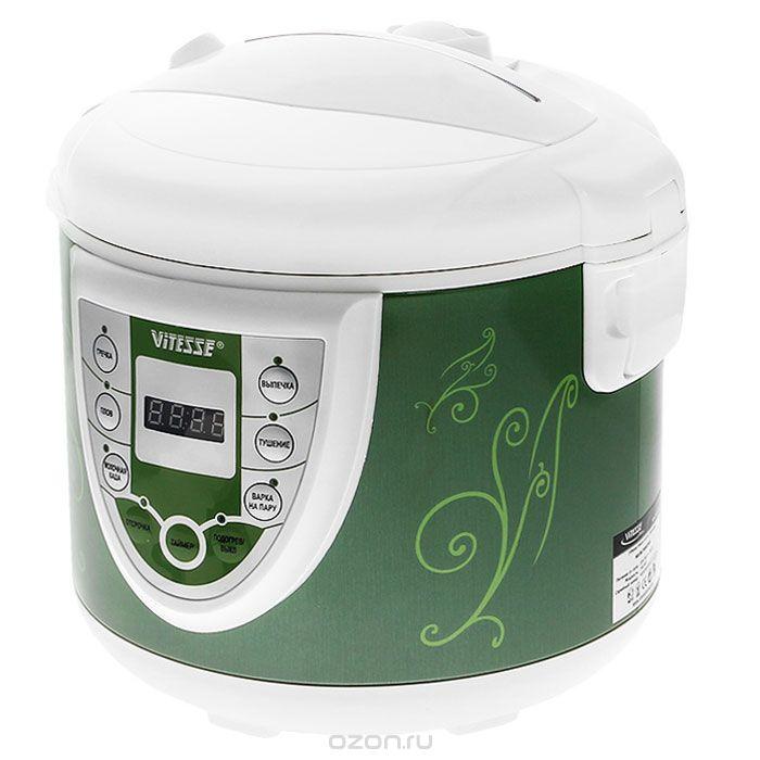 Vitesse VS-590 Green мультиваркаVS-590 GNУВАЖАЕМЫЕ КЛИЕНТЫ! Обращаем Ваше внимание на тот факт, что объем чаши указан максимальный, с учетом полного наполнения до кромки. Шкала на внутренней стенке имеет меньший литраж.