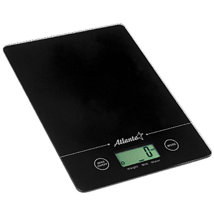 Atlanta ATH-801, Black весы кухонныеATH-801_blackКухонные электронные весы Atlanta ATH-801 - незаменимые помощники современной хозяйки. Они помогут точно взвесить любые продукты и ингредиенты. Кроме того, позволят людям, соблюдающим диету, контролировать количество съедаемой пищи и размеры порций. Предназначены для взвешивания продуктов с точностью измерения до 1 грамма. Замеряет объем молока и воды Очень тонкий корпус Функция обнуления веса