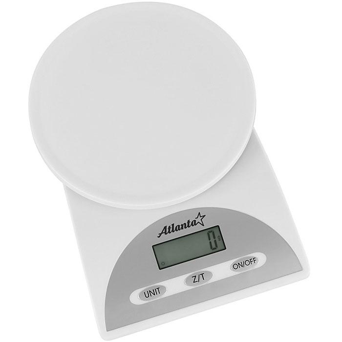 Atlanta ATH-814, White весы кухонныеATH-814_whiteAtlanta ATH-814 - надежные и доступные кухонные весы с высокой точностью взвешивания и функцией обнуления веса. Прибор автоматически выключается через некоторое время после взвешивания. Питание осуществляется от сменной батареи типа Крона (в комплект не входит).