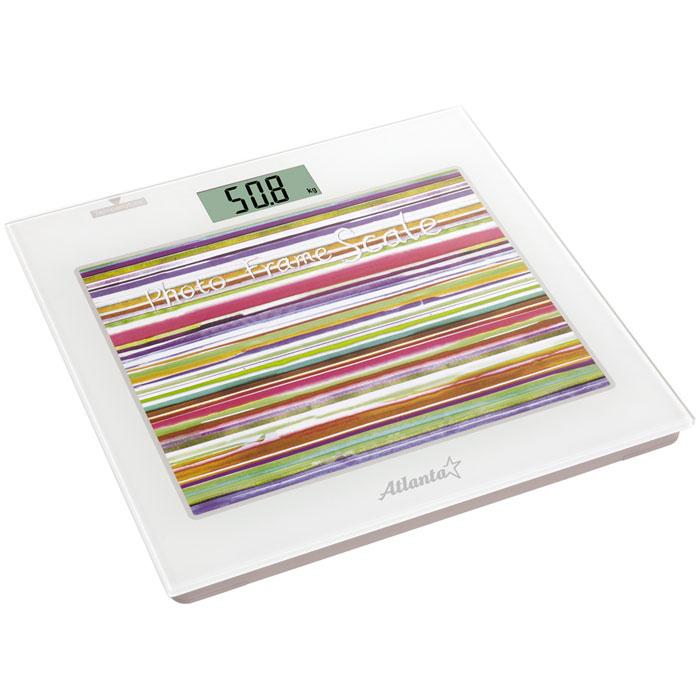 Atlanta ATH-826 весы напольныеATH-826Напольные электронные весы Atlanta ATH-826 - неотъемлемый атрибут здорового образа жизни. Они необходимы тем, кто следит за своим здоровьем, весом, ведет активный образ жизни, занимается спортом и фитнесом. Очень удобны для будущих мам, постоянно контролирующих прибавку в весе, также рекомендуются родителям, внимательно следящим за весом своих детей. Фоторамка 25 х 20 см Часы Термометр Полностью электронная технология Автоматическое включение