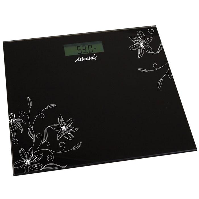 Atlanta ATH-6133, Black весы напольныеATH-6133_blackНапольные электронные весы Atlanta ATH-6133 - неотъемлемый атрибут здорового образа жизни. Они необходимы тем, кто следит за своим здоровьем, весом, ведет активный образ жизни, занимается спортом и фитнесом. Очень удобны для будущих мам, постоянно контролирующих прибавку в весе, также рекомендуются родителям, внимательно следящим за весом своих детей.