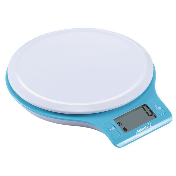 Atlanta ATH-6206, Blue весы кухонныеATH-6206_blueКухонные электронные весы Atlanta ATH-6206 - незаменимые помощники современной хозяйки. Они помогут точно взвесить любые продукты и ингредиенты. Кроме того, позволят людям, соблюдающим диету, контролировать количество съедаемой пищи и размеры порций. Предназначены для взвешивания продуктов с точностью измерения до 1 грамма. Функция обнуления веса Функция сложный рецепт Замеряет объем молока и воды Яркий дизайн
