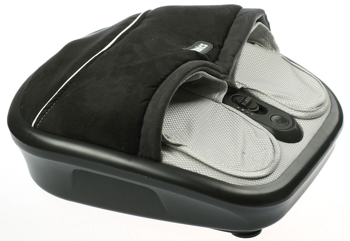 HoMedics FMS-275H-EU массажер для ногFMS-275H-EUШиацу массаж (Shiatsu) — это одна из разновидностей восточного массажа. Он является методом механического и рефлекторного воздействия на ткани и органы. Роликовый шиацу массаж ног при помощи прибора HoMedics FMS-275H-EU поможет вам расслабится после тяжелого рабочего дня или физических нагрузок, например, после занятий спортом. Он снимает усталость и улучшает кровообращение. Массажер HoMedics FMS-275H-EU прост в применении. К тому же он имеет компактные размеры. Поэтому он не займет много места в вашей квартире. Массажер оборудован съемным чехлом, благодаря чему обеспечивается гигиеничность - его удобно содержать в чистоте. Роликовый, воздушный массаж Имитация ручного массажа Гелевые ролики Функция прогревания 3 режима роликового массажа Тайский компрессионный массаж Регулируемая интенсивность воздушного массажа Поверхность их мягкого велюра Встроенная панель управления Регулировка пальцами ноги