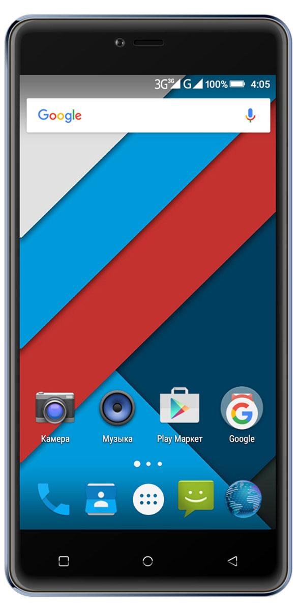 Highscreen Power Rage, Blue4607160934464Ведущий российский производитель смартфонов представляет Highscreen Power Rage - аппарат с 4000 мАч батареей в совершенном оформлении. Оставайтесь на связи всегда! Аппарат снабжён 5 дюймовым HD IPS экраном с разрешением 720х1280 пикселей. Экран смартфона имеет закруглённые края, создавая прекрасные тактильные ощущения и добавляя современный стиль во внешний облик устройства. Смартфон Highscreen Power Rage продаётся в разных цветах, предлагая возможность выбора. Телефон невероятно комфортен и удобно располагается в руке. Поддержка двух сим-карт позволяет комбинировать тарифные планы операторов с разными телефонными номерами. Модель смартфона Highscreen Power Rage снабжена 8 МП камерой с автофокусом и вспышкой. Для видеозвонков и селфи в аппарате предусмотрена фронтальная камера 5 МП. Смартфон сертифицирован Ростест и имеет русифицированный интерфейс меню, а также Руководство пользователя.