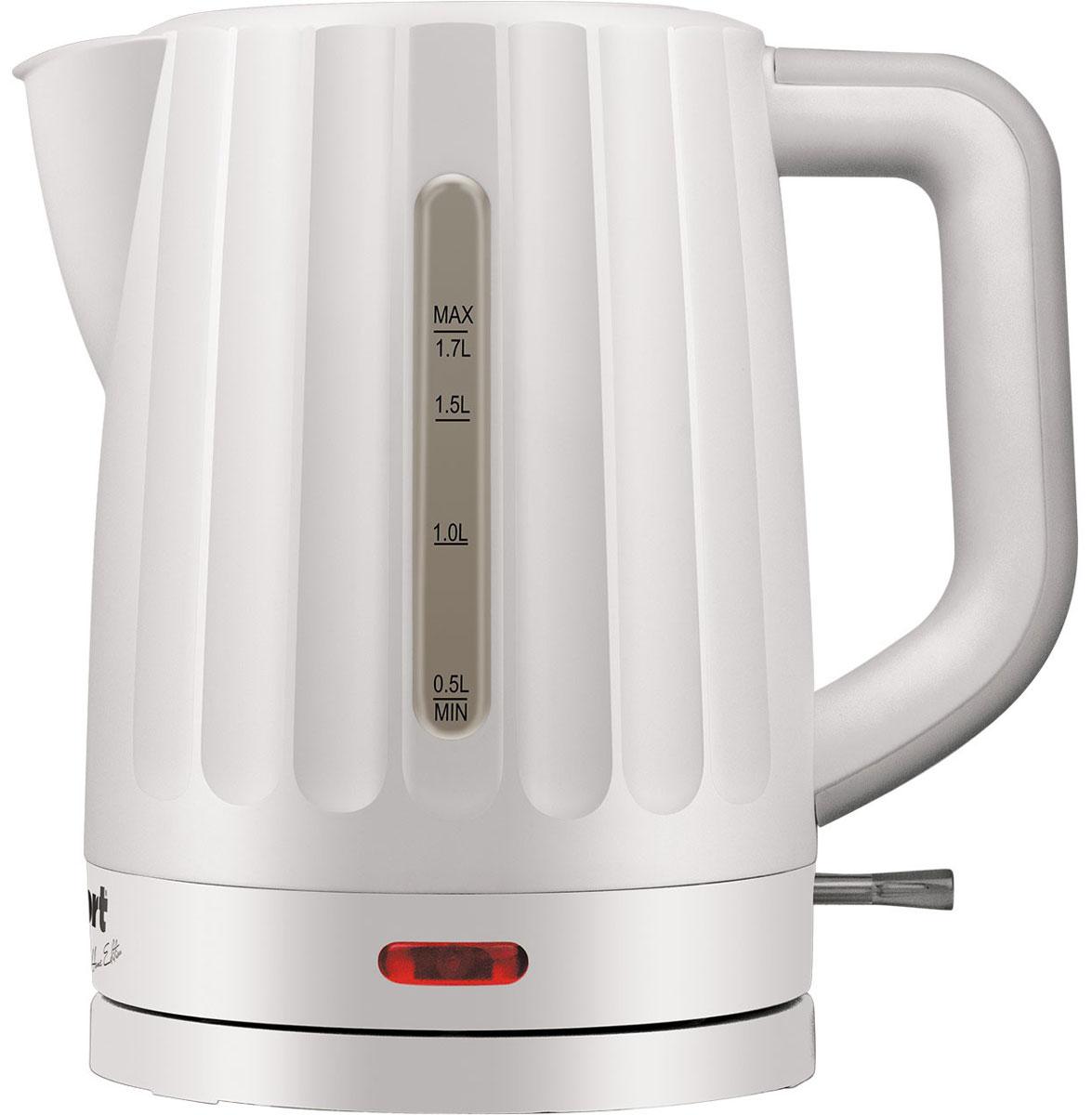 Bort BWK-2017P электрический чайник91276919Стильный чайник Bort BWK-2017P из высококачественной пластмассы позволит быстро вскипятить нужное количество воды. Широко открывающаяся крышка, легкоснимаемый мелкопористый фильтр и плоский нагревательный элемент - всё создано для комфортной эксплуатации и чистки чайника. Окошки контроля уровня воды, расположенные с левой и правой стороны чайника, удобны для левшей и правшей. Эргономичная ручка чайника настолько удобна, что вы легко и комфортно контролируете весь процесс. Длина кабеля: 0,5 м