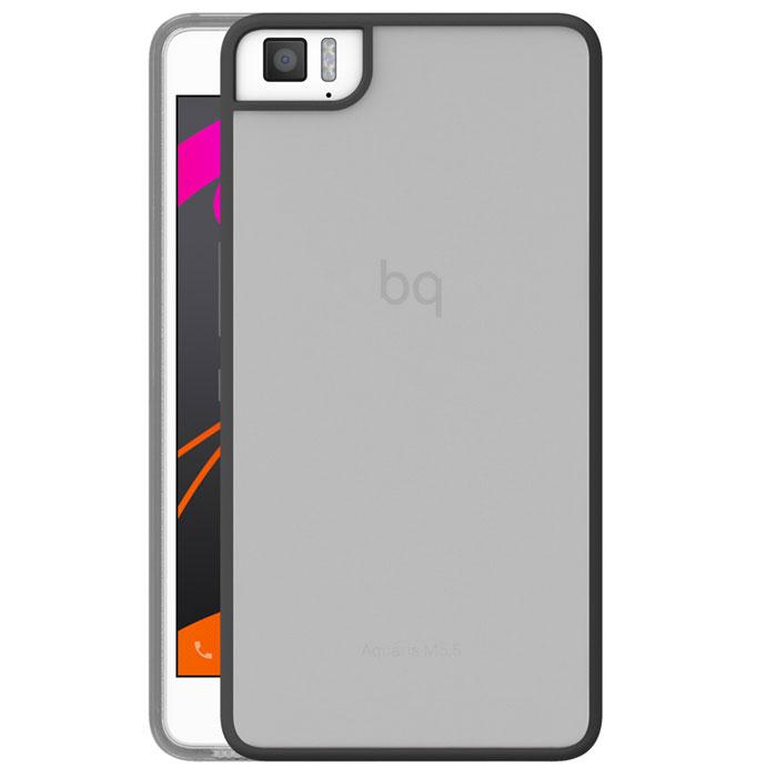 BQ Gummy чехол для Aquaris M5.5, BlackE000584Чехол-накладка BQ Gummy для Aquaris M5.5 бережно и надежно защитит ваш смартфон от пыли, грязи, царапин и других повреждений. Чехол оставляет свободным доступ ко всем разъемам и кнопкам устройства.