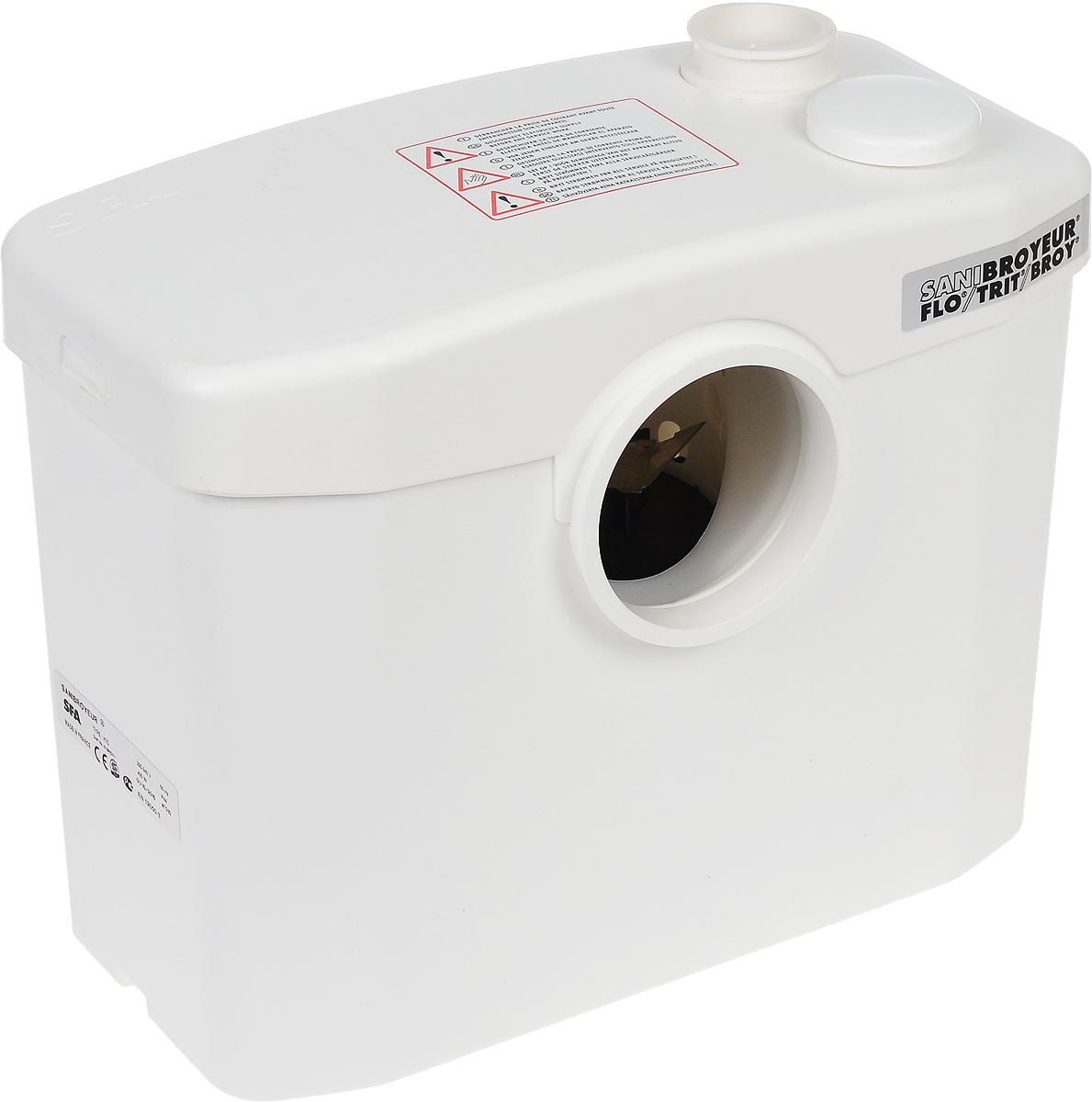 Насос санитарный SFA Sani BroyeurИС.120555Бесшумный насос SFA Sani Broyeur предназначен для установки для оборудования туалетной комнаты в местах, удаленных от канализации. Насос с режущим механизмом включается автоматически, при спуске воды из унитаза. Диаметр откачивания: 22/28/32 мм. Европейский стандарт: EN 12050-3. Максимальное откачивание по вертикали: 4 м. Максимальное откачивание по горизонтали: 100 м. Напряжение: 220-240 В/50 Гц. Режим работы мотора: 2800 об/мин. Средняя температура поступающих вод: 35°С. Уклон горизонтальных соединений: 3%.
