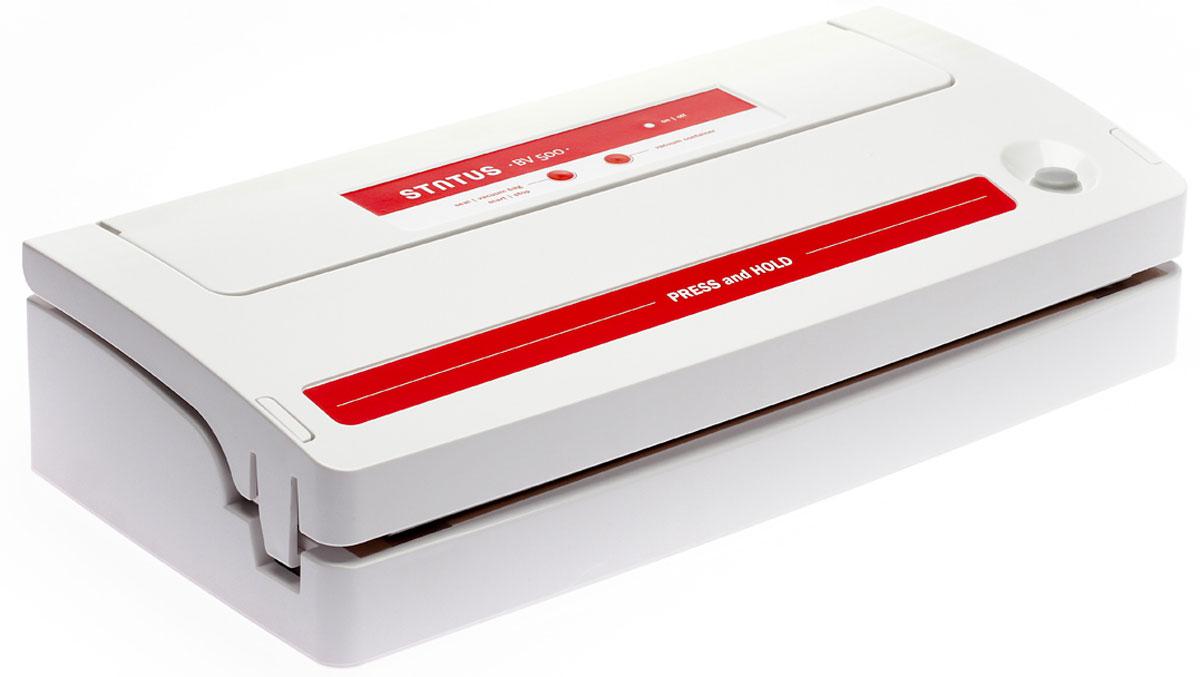 STATUS BV 500 вакуумный упаковщикBV 500STATUS BV 500 - вакуумный упаковщик для надежного хранения пищевых продуктов (как мяса и рыбы, так и овощей и фруктов) без потери их питательных свойств. Автоматическое и ручное управление вакуумированием и сваркой пакетов обеспечивает оптимальную свежесть упакованных продуктов. С помощью специальной насадки STATUS BV 500 может откачивать воздух из контейнеров. Оснащен встроенным отсеком для рулонной пленки.