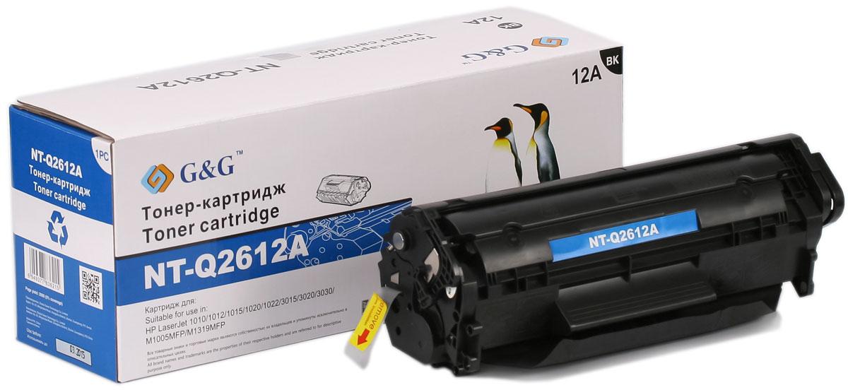 G&G NT-Q2612A тонер-картридж для HP LaserJet 1020/1022/3015/3020/3030/M1005/M1319NT-Q2612AТонер-картридж G&G NT-Q2612A для лазерных принтеров HP LaserJet 1020/1022/3015/3020/3030/M1005/M1319. Расходные материалы G&G для лазерной печати максимизируют характеристики принтера. Обеспечивают повышенную чёткость чёрного текста и плавность переходов оттенков серого цвета и полутонов, позволяют отображать мельчайшие детали изображения. Обеспечивают надежное качество печати.