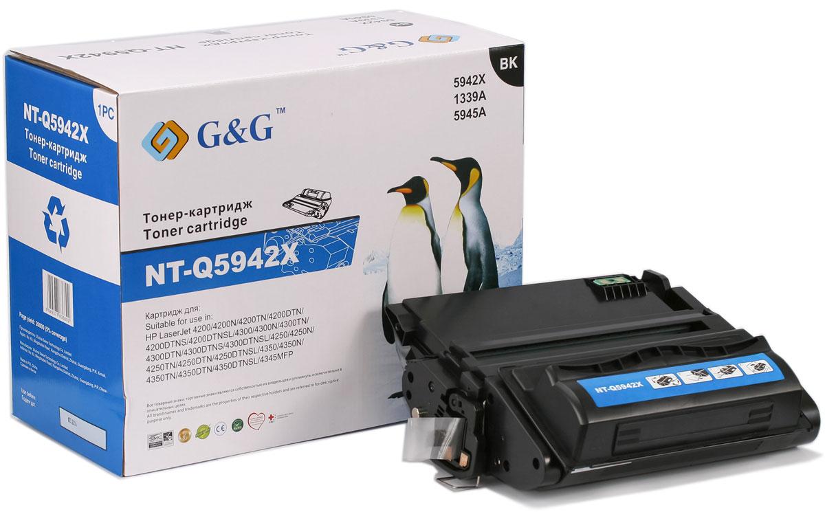 G&G NT-Q5942X тонер-картридж для HP LaserJet 4200/4250/4300/4350/4345NT-Q5942XТонер-картридж G&G NT-TK1140 для лазерных принтеров HP LaserJet 4200/4250/4300/4350/4345. Расходные материалы G&G для лазерной печати максимизируют характеристики принтера. Обеспечивают повышенную чёткость чёрного текста и плавность переходов оттенков серого цвета и полутонов, позволяют отображать мельчайшие детали изображения. Обеспечивают надежное качество печати.