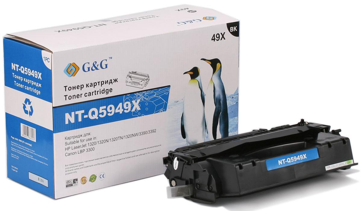 G&G NT-Q5949X тонер-картридж для HP LaserJet 1160/1320/3390/3392/Canon LBP-3300/3360NT-Q5949XТонер-картридж G&G NT-Q5949X для лазерных принтеров HP LaserJet 1160/1320/3390/3392/ и Canon LBP-3300/3360. Расходные материалы G&G для лазерной печати максимизируют характеристики принтера. Обеспечивают повышенную чёткость чёрного текста и плавность переходов оттенков серого цвета и полутонов, позволяют отображать мельчайшие детали изображения. Обеспечивают надежное качество печати.