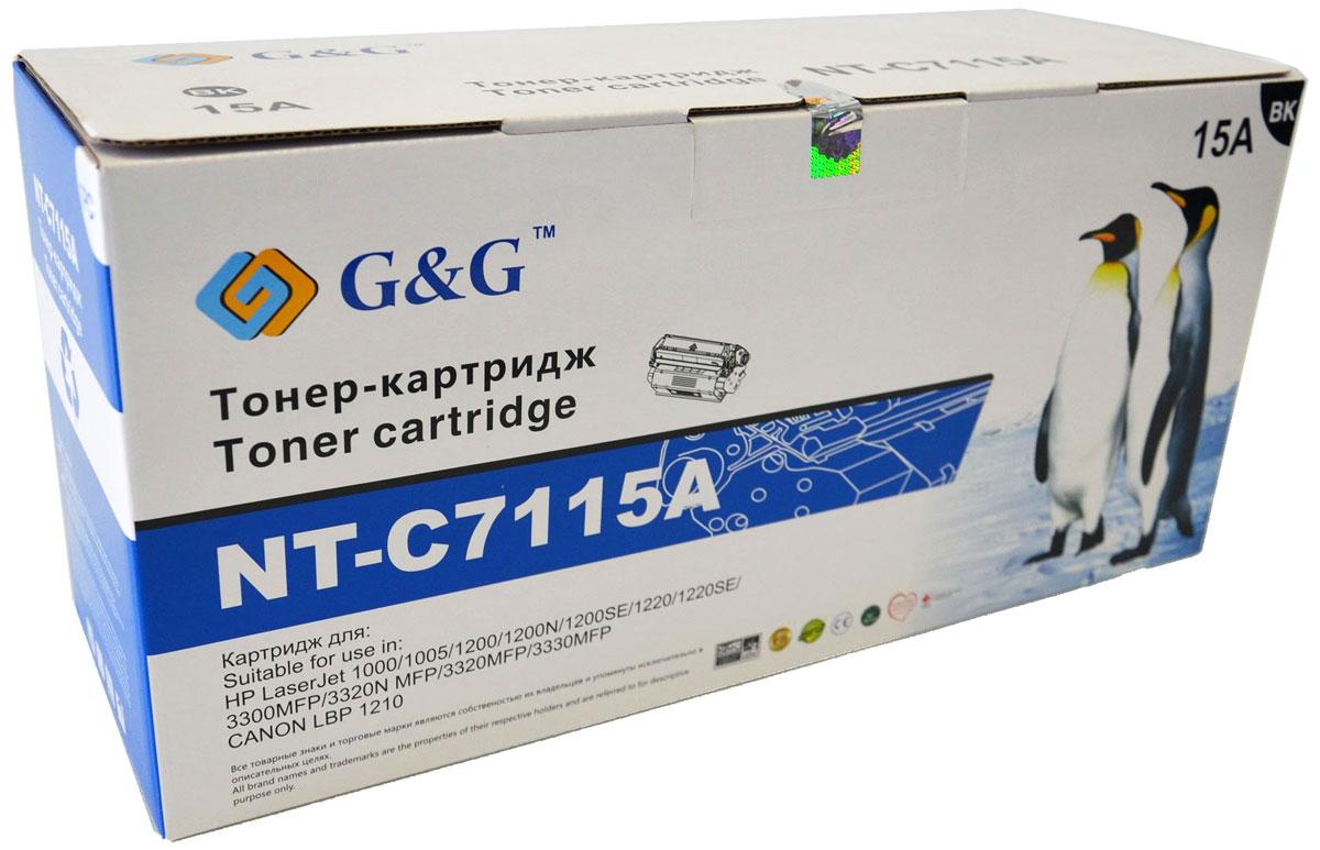 G&G NT-C7115A тонер-картридж для HP LaserJet 1000/1005/1200/3300/3320/3330/Canon LBP-1210NT-C7115AКартридж G&G NT-C7115A для лазерных принтеров HP LaserJet 1000/1005/1200/3300/3320/3330, Canon LBP-1210. Расходные материалы G&G для лазерной печати максимизируют характеристики принтера. Обеспечивают повышенную чёткость чёрного текста и плавность переходов оттенков серого цвета и полутонов, позволяют отображать мельчайшие детали изображения. Обеспечивают надежное качество печати.