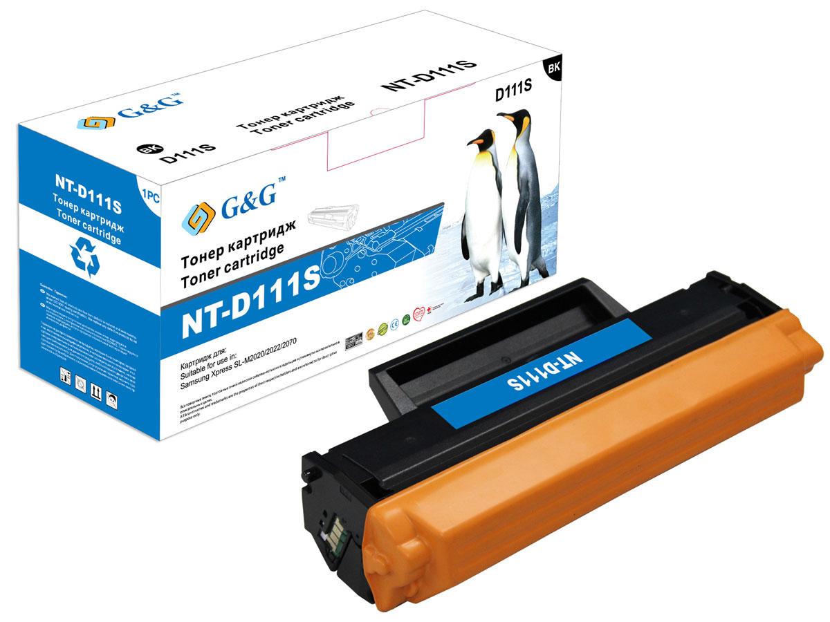 G&G NT-D111S тонер-картридж для Samsung SL-M2020/2022/2070NT-D111SТонер-картридж G&G NT-D111S для лазерных принтеров Samsung SL-M2020/2022/2070. Расходные материалы G&G для лазерной печати максимизируют характеристики принтера. Обеспечивают повышенную чёткость чёрного текста и плавность переходов оттенков серого цвета и полутонов, позволяют отображать мельчайшие детали изображения. Обеспечивают надежное качество печати.