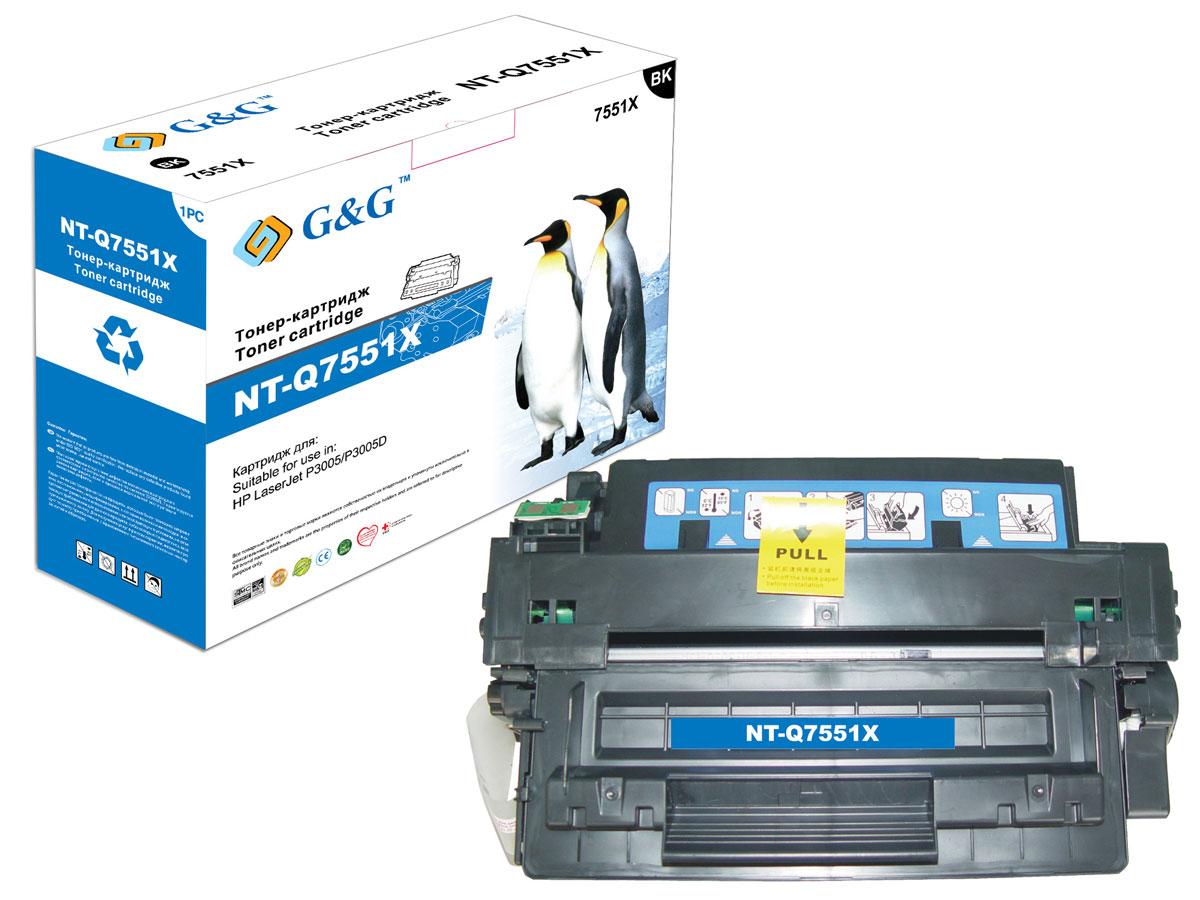 G&G NT-Q7551X тонер-картридж для HP LaserJet P3005/P3005DNT-Q7551XТонер-картридж G&G NT-Q7551X для лазерных принтеров HP LaserJet P3005/P3005D. Расходные материалы G&G для лазерной печати максимизируют характеристики принтера. Обеспечивают повышенную чёткость чёрного текста и плавность переходов оттенков серого цвета и полутонов, позволяют отображать мельчайшие детали изображения. Обеспечивают надежное качество печати.