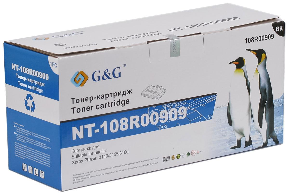G&G NT-108R00909 тонер-картридж для Xerox Phaser 3140/3155/3160NT-108R00909Картридж G&G NT-108R00909 для лазерных принтеров Xerox Phaser 3140/3155/3160. Расходные материалы G&G для лазерной печати максимизируют характеристики принтера. Обеспечивают повышенную чёткость чёрного текста и плавность переходов оттенков серого цвета и полутонов, позволяют отображать мельчайшие детали изображения. Обеспечивают надежное качество печати.